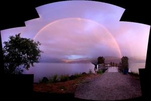 Double Rainbows in Kelowna - July 18, 2011