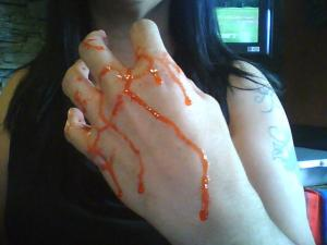 My hands after pitting cherries